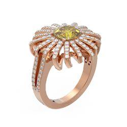 2.75 ctw Canary Citrine & Diamond Ring 18K Rose Gold