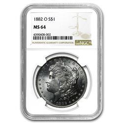 1882-O Morgan Dollar MS-64 NGC