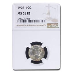 1926 Mercury Dime MS-65 NGC (FB)