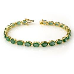 14.0 ctw Emerald Bracelet 10k Yellow Gold