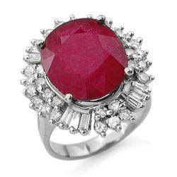10.65 ctw Ruby & Diamond Ring 18k White Gold