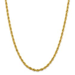 10k Yellow Gold 4.25 mm Semi-Solid Rope Chain - 26 in.