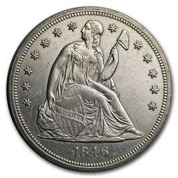 1846 Liberty Seated Dollar BU