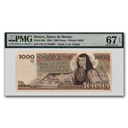 1984 Mexico 1000 Pesos CU-67 EPQ PMG