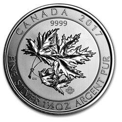 2017 Canada 1.5 oz Silver $8 SuperLeaf BU
