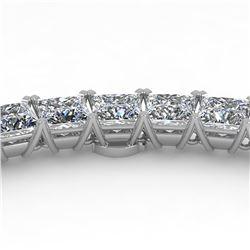40 ctw Princess Certified SI Diamond Necklace 18K Rose Gold
