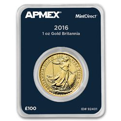 2016 Great Britain 1 oz Gold Britannia (MintDirect® Single)