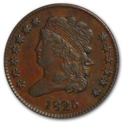 1825 Half Cent AU