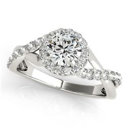0.75 ctw Certified VS/SI Diamond Halo Ring 14k White Gold