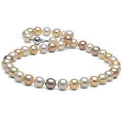Multicolor Freshwater Pearl Necklace, 8.5-9.0mm