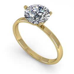 1.50 ctw Certified VS/SI Diamond Engagment Ring Martini 18k Yellow Gold