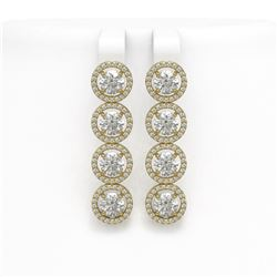 6.14 ctw Diamond Micro Pave Earrings 18K Yellow Gold