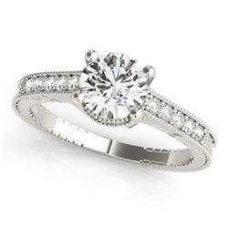 0.7 ctw Certified VS/SI Diamond Antique Ring 18k White Gold