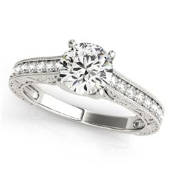 1.07 ctw Certified VS/SI Diamond Ring 18k White Gold