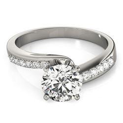 0.91 ctw Certified VS/SI Diamond Bypass Ring 14k White Gold