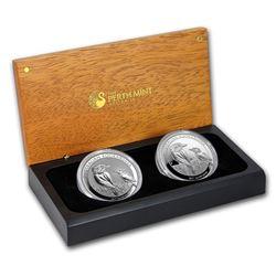 2017 Australia Silver Kookaburra 2-Coin Set BU/Proof