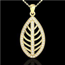 1 ctw Micro Pave VS/SI Diamond Designer Necklace 18k Yellow Gold