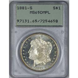 1881-S Morgan Dollar MS-65 DMPL PCGS