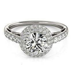 1.65 ctw Certified VS/SI Diamond Halo Ring 14k White Gold