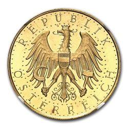 1931 Austria Gold 100 Schilling PL-65 NGC