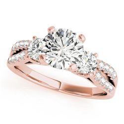 1.25 ctw VS/SI Diamond 3 Stone Ring 18k Rose Gold