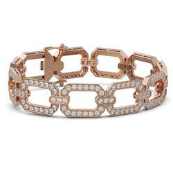 10 ctw Diamond Designer Bracelet 18K Rose Gold