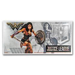 2018 Niue 5 gram Silver $1 Note Justice League Wonder Woman