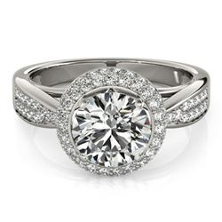 2.15 ctw Certified VS/SI Diamond Halo Ring 18k White Gold