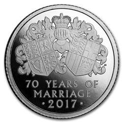 2017 Great Britain 1/4 oz Platinum Proof Platinum Wedding Anniv