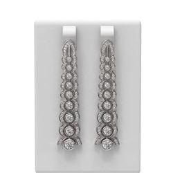 2.26 ctw Diamond Earrings 18K White Gold