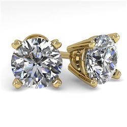 2.50 ctw Certified VS/SI Diamond Stud Earrings 14K Yellow Gold