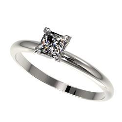 0.50 ctw Certified VS/SI Quality Princess Diamond Ring 10k White Gold