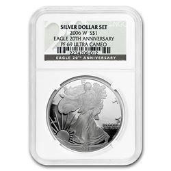 2006-W Proof Silver American Eagle PF-69 NGC (20th Anniv)