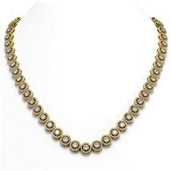 20.35 ctw Diamond Micro Pave Necklace 18K Yellow Gold