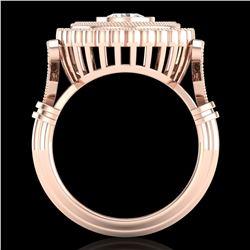 2.03 ctw VS/SI Diamond Solitaire Art Deco Ring 18k Rose Gold