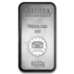 1 kilo Silver Bar - Geiger (Security Line Series/1000 Gram)