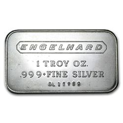 1 oz Silver Bar - Engelhard (Wide Logo, 5-digit)