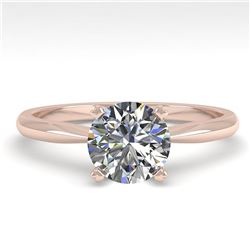 1.01 ctw VS/SI Diamond Engagment Designer Ring 14k Rose Gold