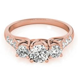 0.75 ctw VS/SI Diamond 3 Stone Ring 18k Rose Gold
