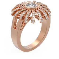 1.5 ctw Diamond Ring 18K Rose Gold