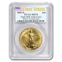 2006-W 1 oz Burnished Gold Eagle MS-70 PCGS (FirstStrike®)