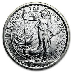 2015 1 oz Silver Britannia BU (w/Year of the Sheep Privy Mark)