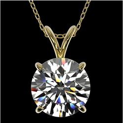 2.03 ctw Certified Quality Diamond Necklace 10k Yellow Gold