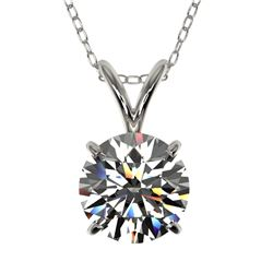 1.29 ctw Certified Quality Diamond Necklace 10k White Gold