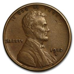 1912-S Lincoln Cent XF