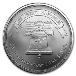 1 oz Silver Round - A-Mark Liberty Bell