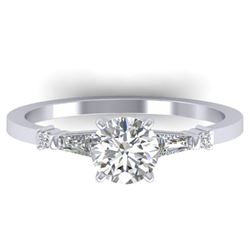 1.04 ctw Certified VS/SI Diamond Solitaire Ring 14k White Gold