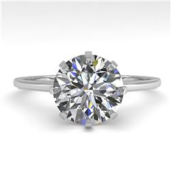 2.03 ctw Certified VS/SI Diamond Engagement Ring Size 7 14k White Gold