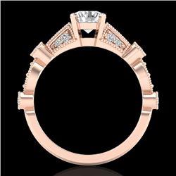 1.03 ctw VS/SI Diamond Solitaire Art Deco Ring 18k Rose Gold