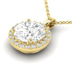 1.75 ctw VS/SI Diamond Certified Pave Necklace 18k Yellow Gold